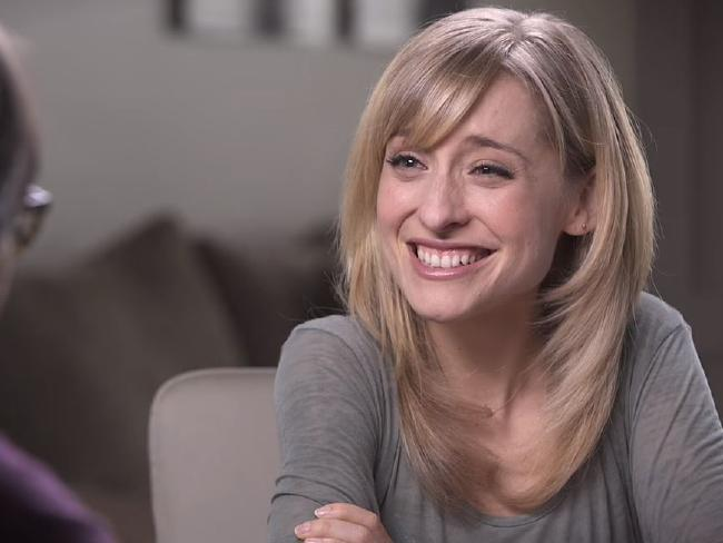 "Smallville actress Allison Mack reportedly ""recruited"" women for Keith Raniere. Picture: Keith Raniere Conversations/Youtube"
