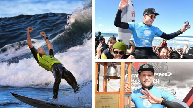 Mick Fanning is farewelling the world surf tour at Bells Beach
