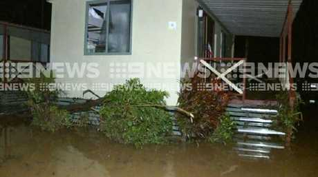 A number of caravans and cabins were inundated.