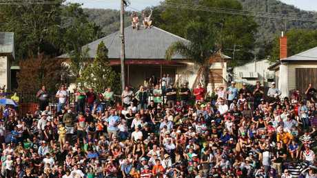 Every vantage point was taken when the City-Country clash went to Tamworth in 2016. Photo: Toby Zerna