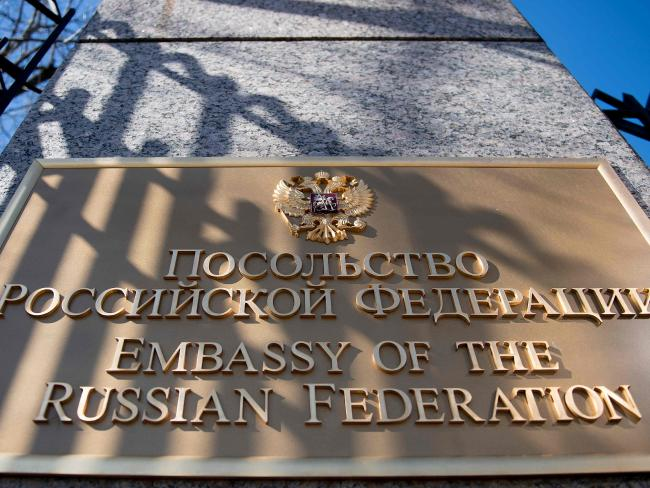 The Russian Embassy in Washington, DC. US President Donald Trump ordered the expulsion of 60 alleged Russian spies from the US. Picture: AFP/Jim Watson