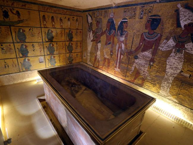 The burial chamber of King Tutankhamun, the world's most famous Egyptian mummy. Picture: EPA/STR.