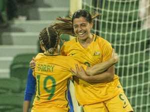 Adelaide's Alex Chidiac gets on the board for Matildas