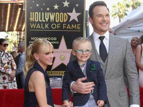Anna Faris and Chris Pratt with son, Jack.
