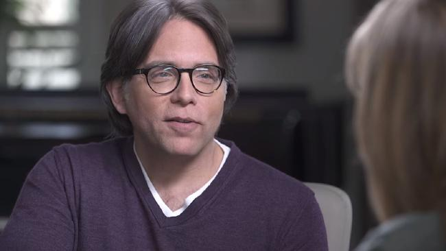 "Keith Raniere has been arrested for allegedly branding women and keeping them as ""slaves"". Picture: Keith Raniere Conversations/Youtube"