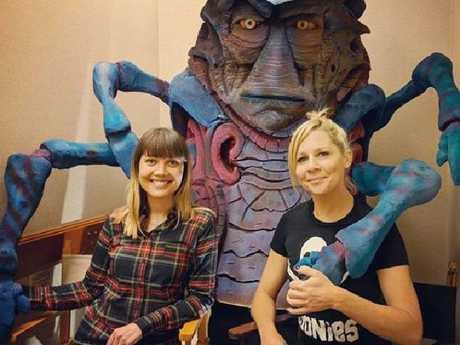 Nicki Clyne with Aussie actress, Gigi Edgley. Picture: Supplied