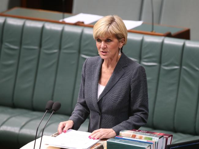 Foreign Affairs Minister Julie Bishop is yet to confirm if Australia will also expel Russian diplomats but reports suggest an announcement is imminent. Picture: Kym Smith