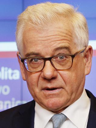 Poland's Foreign Minister Jacek Czaputowicza announced Poland is expelling four high-ranking Russian diplomats. Picture: AP/Czarek Sokolowski