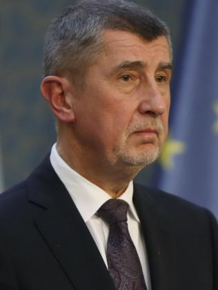 Czech Republic's Prime Minister Andrej Babis said that the country is expelling three staffers from the Russian embassy. Picture: AP/Petr David Josek