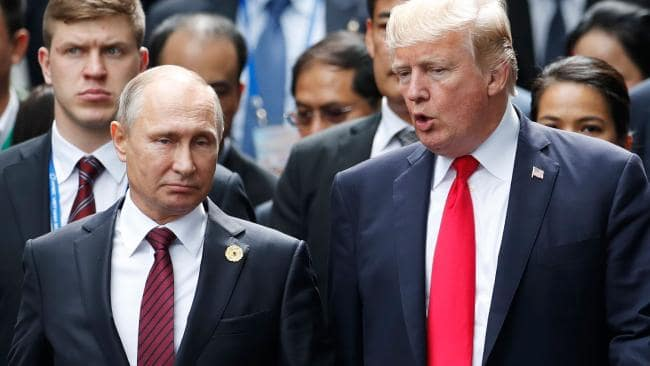 Things aren't so rosy at the moment between Russian President Vladimir Putin and US President Donald Trump. Picture: Jorge Silva/AFP
