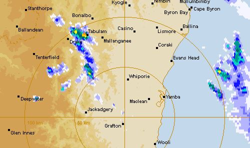 The Bureau of Meteorology has issued a severe storm warning.