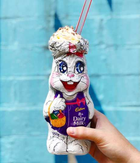 Easter bunny shake at The Moose.