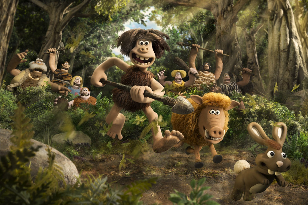 Dug and his tribe of hunters in a scene from the movie Early Man.