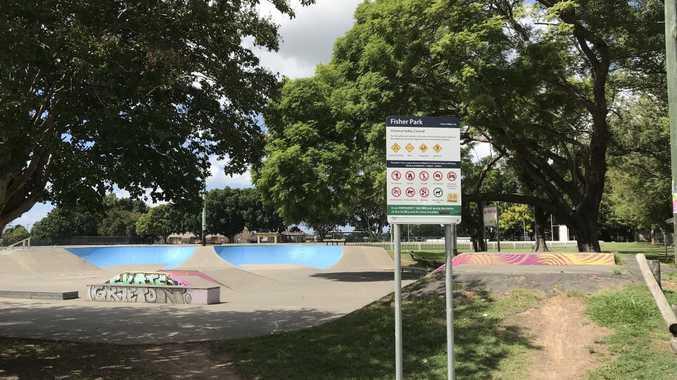 The Fisher Park skatepark in Grafton.