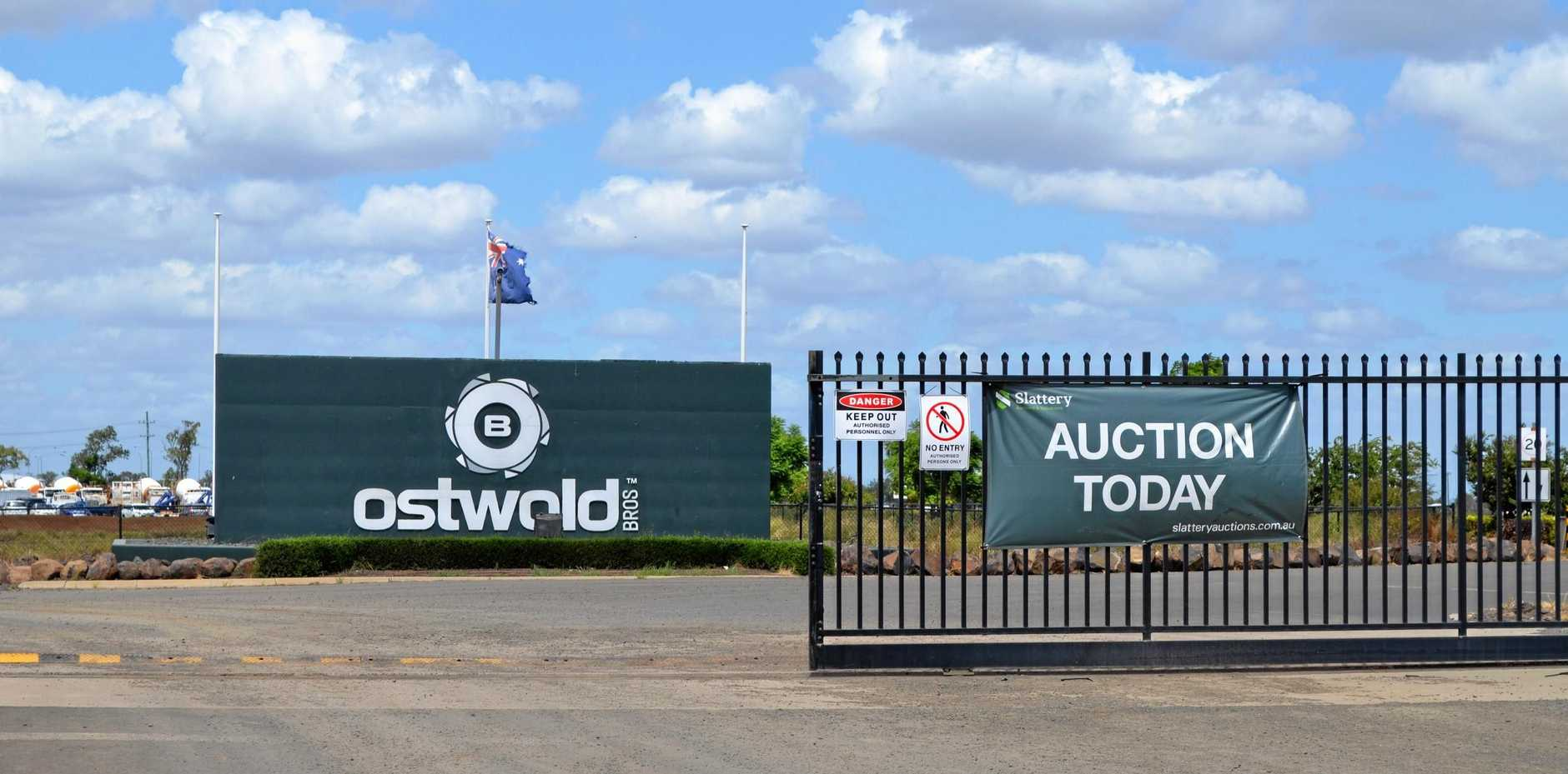 MASS CLEARANCE: Millions of dollars worth of Ostwald Bros equipment was sold off last week.