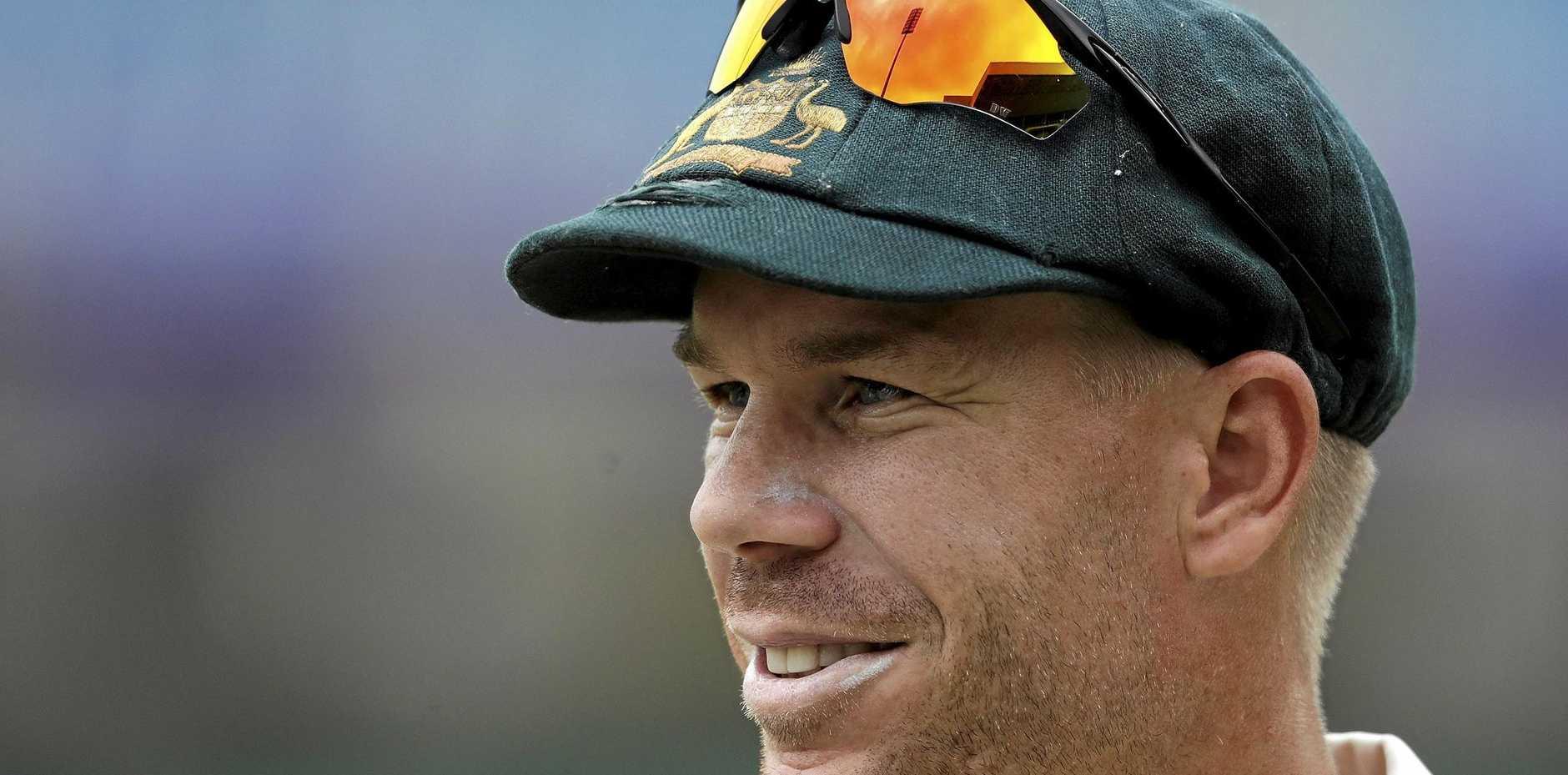 HAPPIER TIMES: Former Australian vice captain David Warner during better times.