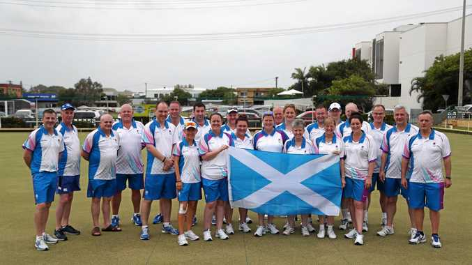 Team Scotland lawn bowlers enjoyed some friendly matches at the Coolum Beach Bowls Club on Tuesday during their Commonwealth Games training camp on the Sunshine Coast.