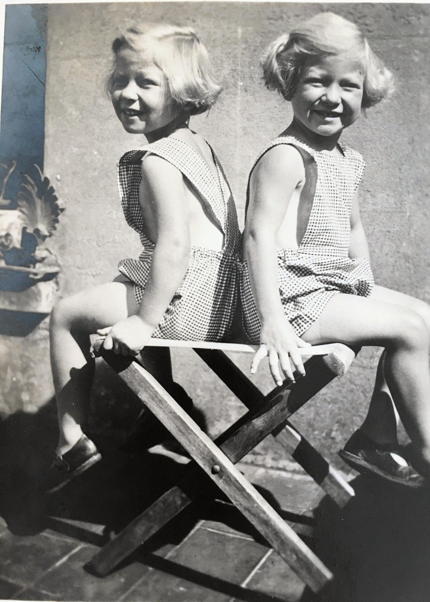 FAMILY MEMORIES: Identical twins Katie and Pamela Tydeman in younger days.