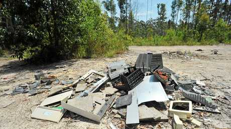 Illegal dumping is a common problem in bushland areas of the Coffs Coast.