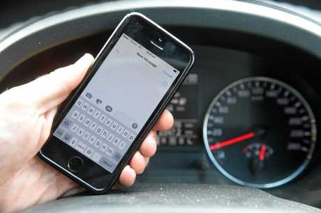 RISKY BUSINESS: A quarter of Queensland people surveyed had sent a text while driving.