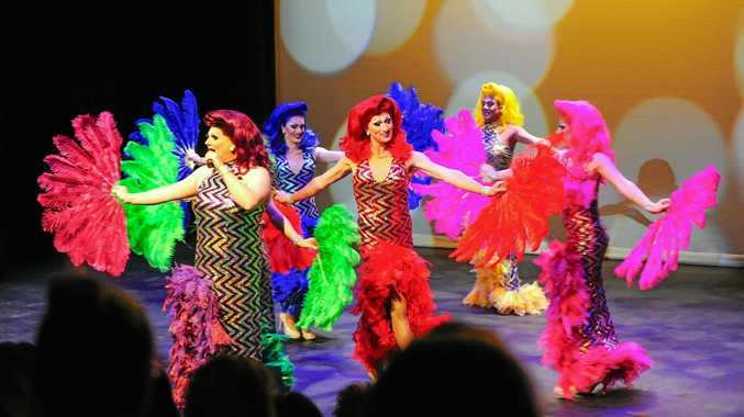 COLOURFUL: The Drag to Bitches show brings more than 50 individual costumes for a cabaret extravaganza.