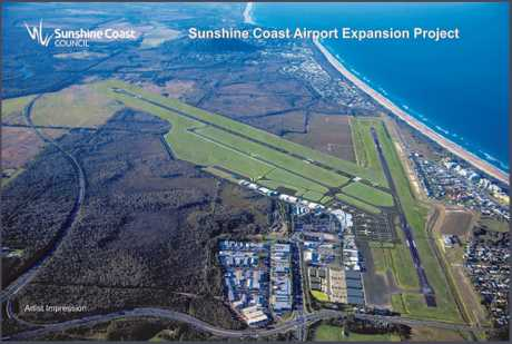 Plans for the new runway as part of the Sunshine Coast Airport expansion.
