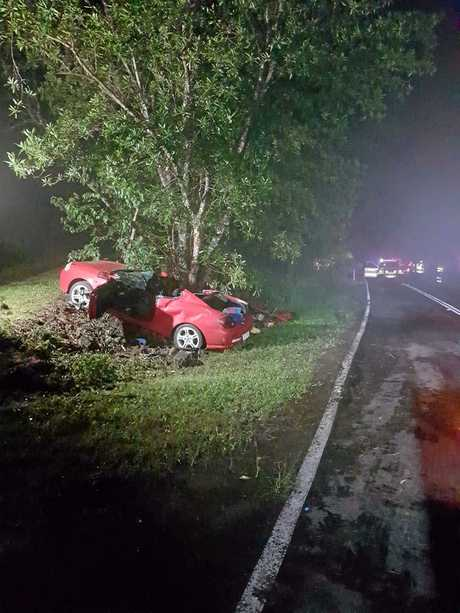A woman has died and a teenager is in a critical condition after a horror crash near Nambour.