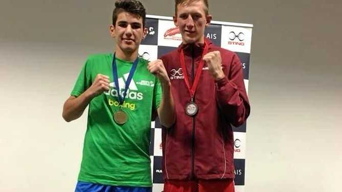Charlie Bell and Lachlan Hopes at the 2018 Australian boxing Titles.