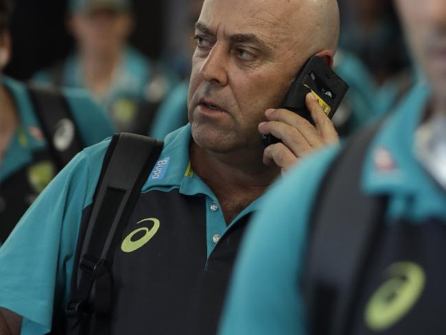 Darren Lehmann will remain as Australia coach, despite reports to the contrary. Picture: AP Photo/Themba Hadebe