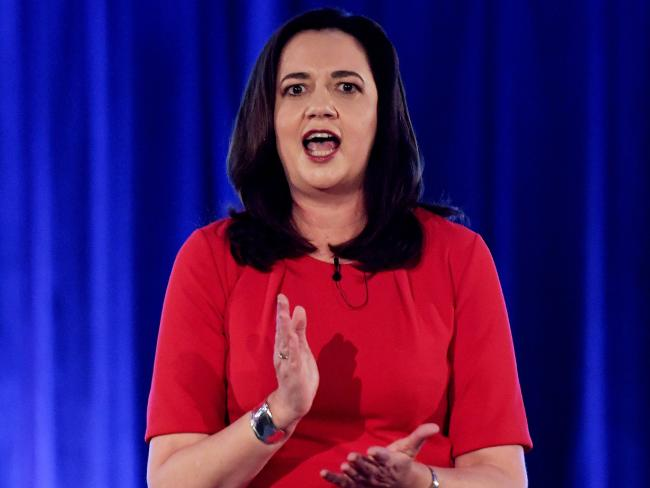 Queensland Premier Annastacia Palaszczuk used the state Liberal leader's ties to One Nation to snatch support from LNP voters. Picture: Tracey Nearmy
