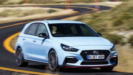 Corner carver: Hyundai's i30N is a change of direction for the company. Picture: Supplied.