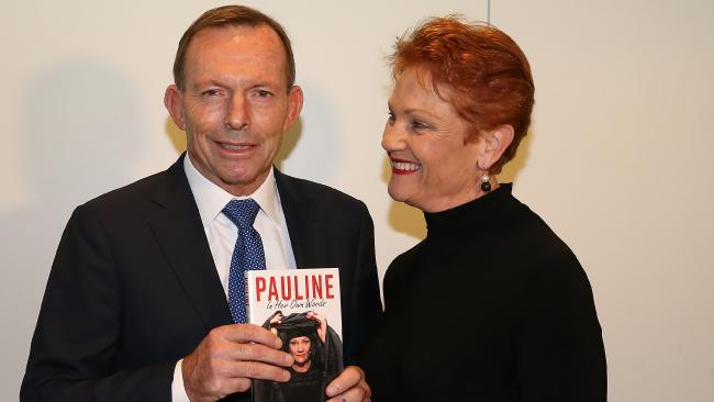 Did the former PM just declare the Coalition had jumped into bed with One Nation? Sure sounded like it to me. Picture: Kym Smith Hanson deserves Liberal preferences: Abbott