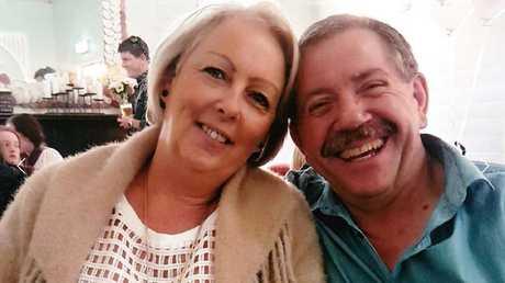 Sharon Graham with Bruce Saunders.
