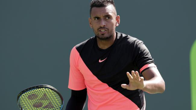 Australia's Nick Kyrgios has gone down to Alexander Zverev 6-4 6-4 in Miami.