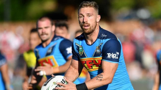 Bryce Cartwright has been dropped to the Titans bench after two unconvincing performances at lock in the first three weeks of the season. Photo: Darren England