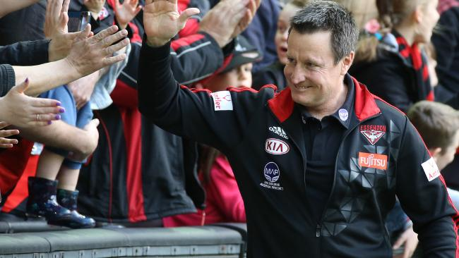Essendon coach John Worsfold has signed a new deal with the Bombers. Picture: George Salpigtidis