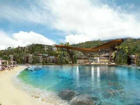 More than 550 guests a night will be able to stay at the resort once it is completed.