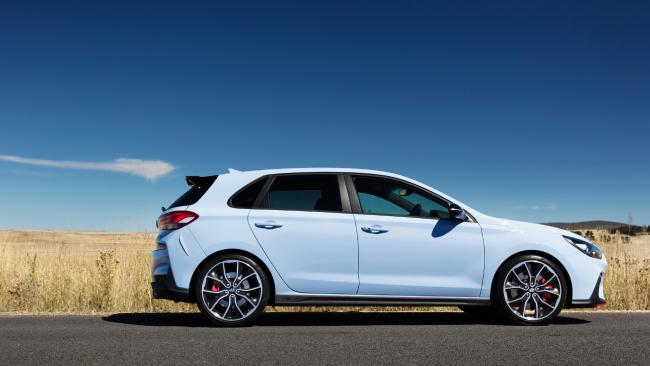Sports wheels and big brakes give a hint of the car's performance potential. Picture: Supplied.