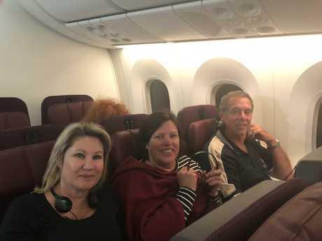 Passengers on the gruelling 17-hour flight.