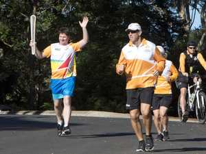 The baton's journey through Toowoomba