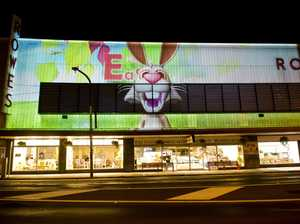 Animated clip lights up CBD building for Easter