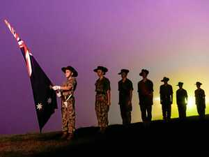 RESPECT: Younger generations at an Anzac Day dawn service.