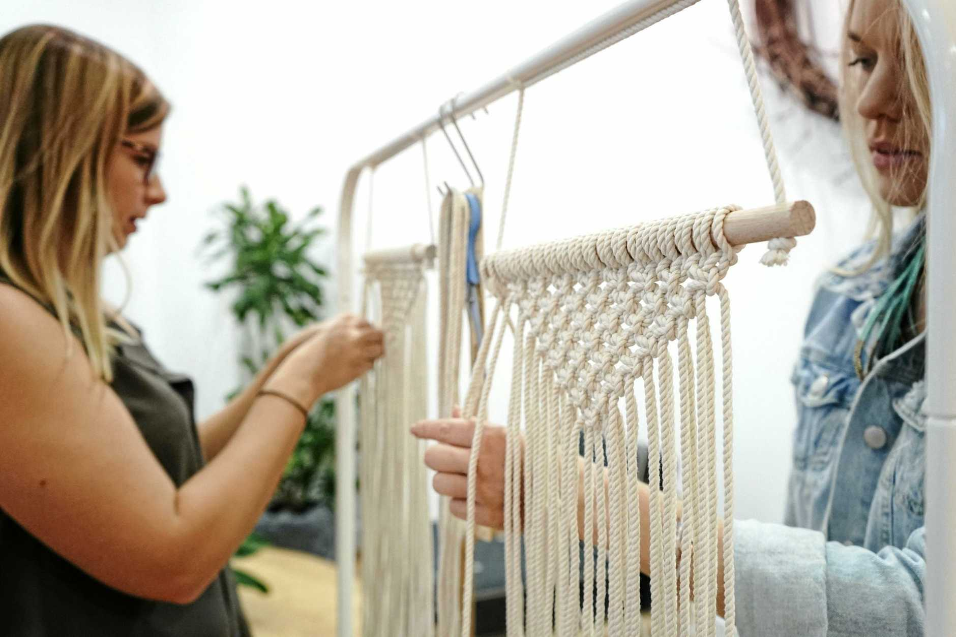 FUN FOR ALL: A macrame workshop is just one of the many HAVEN activities.