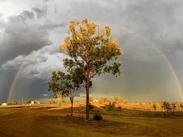 A rainbow shot taken in December 2017.