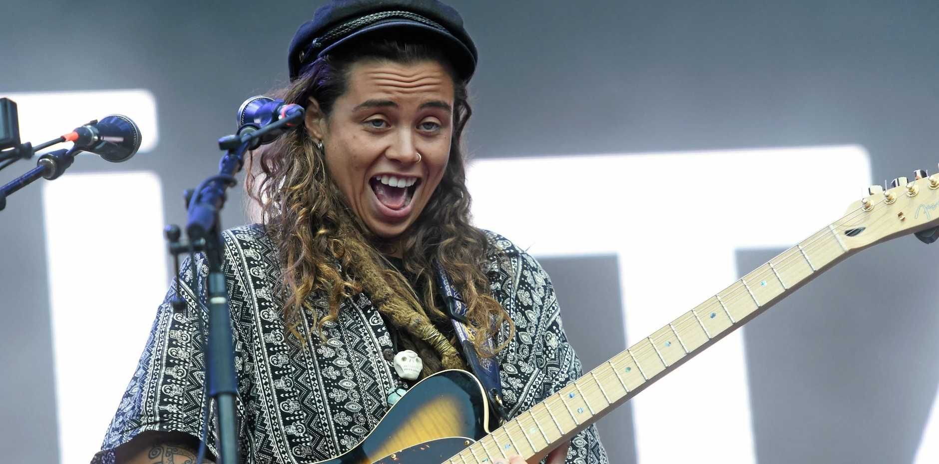 ON STAGE: Tash Sultana plays the main stage at Splendour in the Grass 2017.