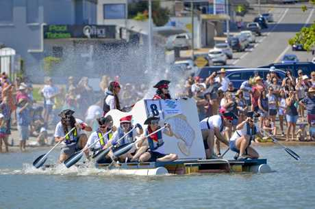 Gladstone Harbour Fest's Great Raft Regatta. Photo Paul Braven / The Observer