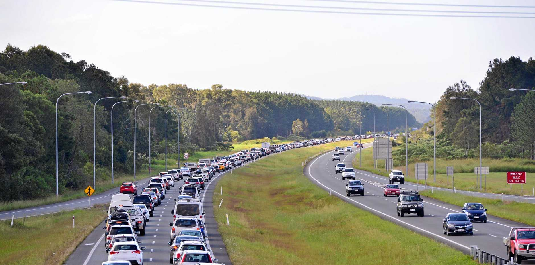 The RACQ has warned Easter traffic will be even worse than usual, with roadworks and the Commonwealth Games putting extra pressure on the Bruce Highway.