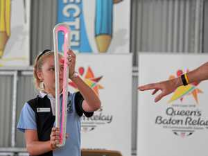 First glimpse of Queen's baton in Warwick
