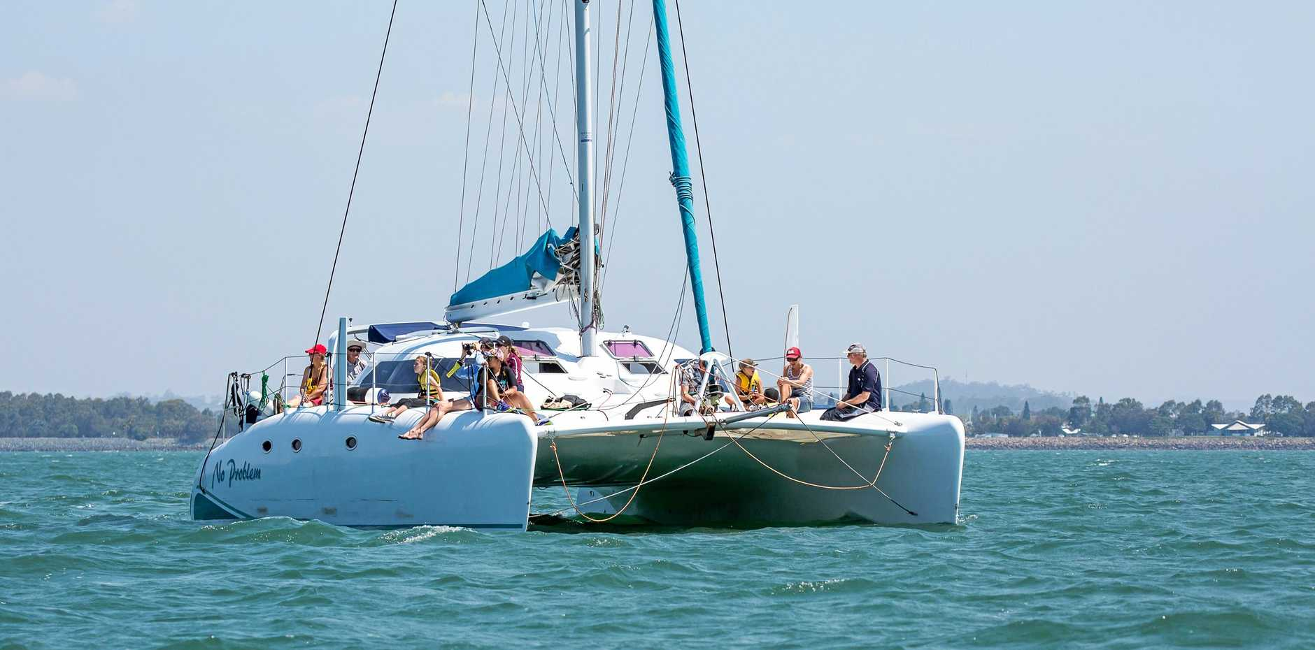 No Problem is one of three Gladstone boats in the race