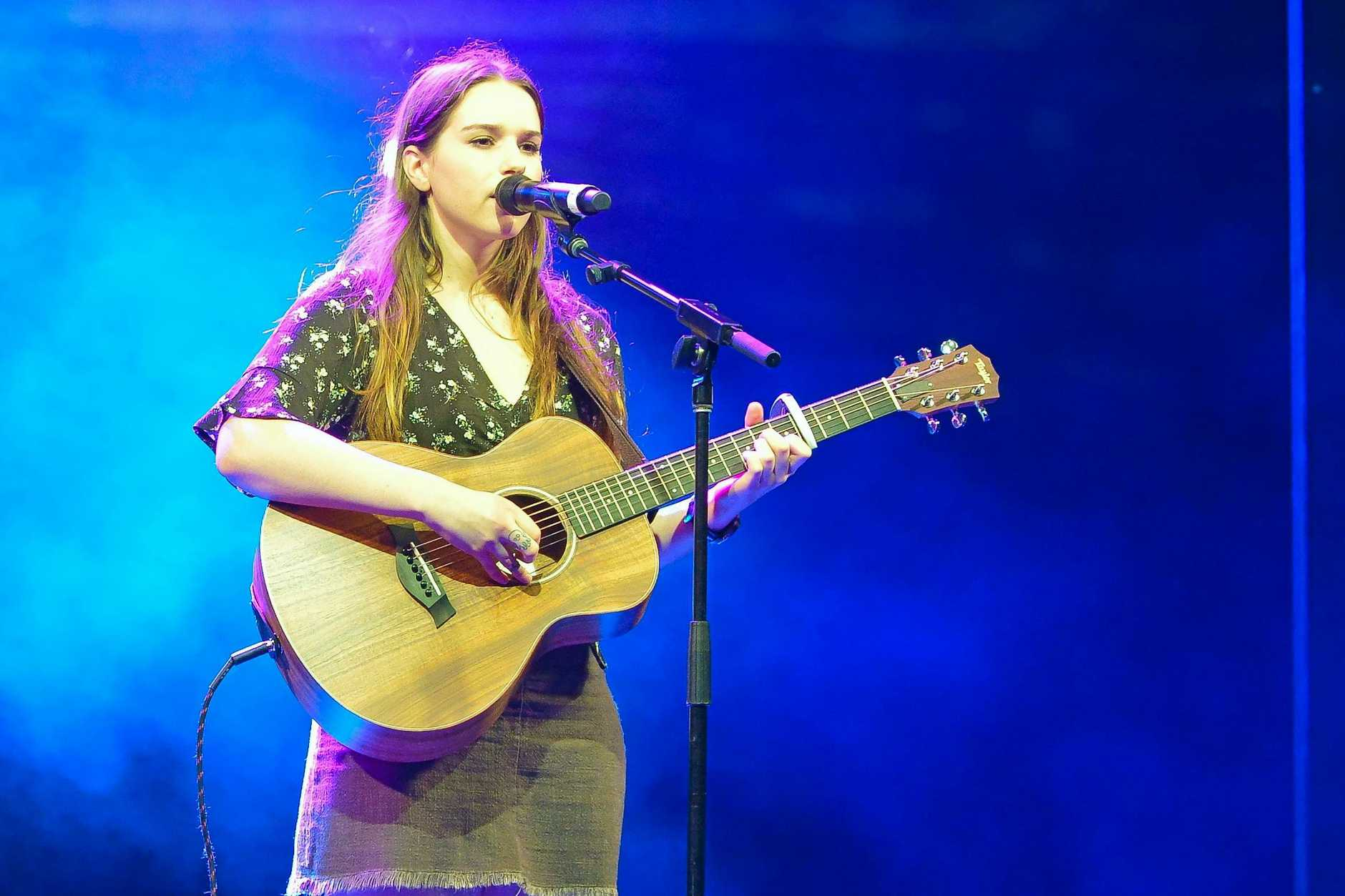First place was awarded to Isabel Wood who sang Set fire to the rain.Gladstone Harbour Festival Talent Quest.